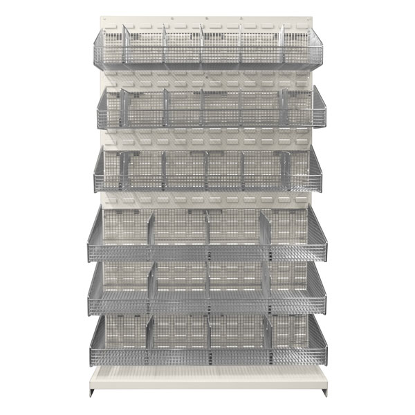 "48"" W ParWall Louvered Panel Kit, 6 Baskets-(Cat.#PWW486)"